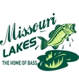 largemouth bass missouri lakes vector image vector image