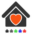 hospice flat icon vector image