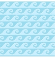 Seamless blue grunge pattern sea waves vector image vector image