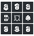 Family tree icons set vector image