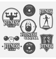 icon fitness club vector image