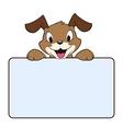 Cartoon Banner Dog vector image