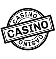 Casino rubber stamp vector image