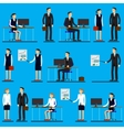 Cool flat design corporate business people line-up vector image