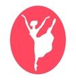 Emblem of dance ballet studio with ballerina vector image