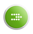 green round button with next sign vector image