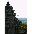 Landscape stone old buildings Ankor Wat Cambodia vector image