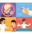 Medical flu vaccination concept background vector image
