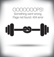 Weight Knot 404 vector image