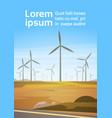 wind turbine energy renewable station nature vector image