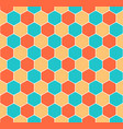 seamless honeycomb pattern hexagon texture vector image vector image