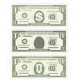 usa banking currency cash symbol 1 dollar bill vector image
