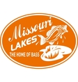 largemouth bass missouri lakes vector image