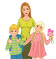 Teacher with children vector image