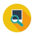 Photo search icon vector image