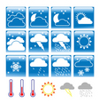weather conditions vector image vector image
