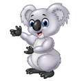 Cartoon koala presenting isolated vector image vector image