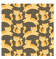 cute kitten pattern vector image vector image
