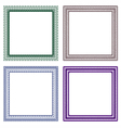 frame guilloche design vector image