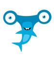 Hammerhead Shark Mascot vector image