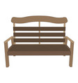 bench wooden park background view garden isolated vector image
