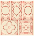 Frames set for cards with floral details vector image