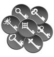 Key set silhouette vector image