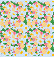 seamless pattern bright flowers vector image