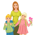 Teacher with children vector image