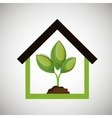 ecological house plant icon design vector image