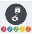 Piston single icon vector image