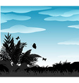 Silhouette bush vector image vector image