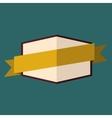 Beige vintage badge vector image vector image