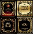 golden vintage frames vector image vector image