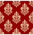Seamless red and pink fleur-de-lis pattern vector image