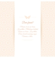 Beautiful invitation card on ornate background vector image