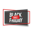 black friday sale banner with shapes frame glitch vector image