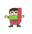 child english alphabet letter j vector image