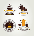 Coffee label icon menu vector image