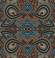 colored hand drawn psychedelic zentangle pattern vector image