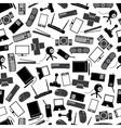 computer peripherals black and gray pattern eps10 vector image