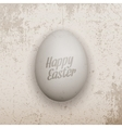 Easter Banner Template Realistic chicken Egg vector image