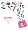 Make up concept flat vector image