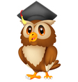 Owl wearing graduation cap vector image