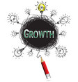 red pencil idea concept green growth education vector image