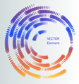 Round design element vector image