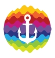 Sea Anchor Rainbow Color Icon for Mobile vector image