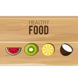 assorted healthy food icons emblem vector image