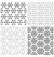 Arabic geometric patterns vector image