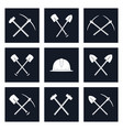 set icons of working tools vector image